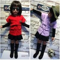 RQQ Korean Boutique Girls temperament woolen waist drill red short sleeved vest thickened R-8016 Christmas