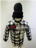 RQQ  children's clothing wholesale  boy lattice thickened Y815 shirt Christmas