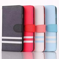 """Cross Leather Case For Apple iPhone 6 Plus 5.5"""" with Flip Wallet Pocket Cover + Screen Protector Film"""