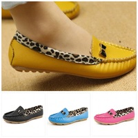 Hot sale Flats for Women Flat heel Shoes Fashion Leopard Flats Women Shoes 2014 5 color  Free Shipping