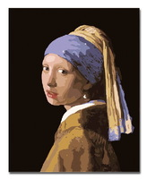 Framed canvas painting by numbers diy digital oil painting hand painted picture oil painting 4050 Girl with a Pearl Earring