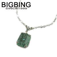BigBing fashion jewelry fashion green crystal pendant necklace choker Necklace fashion jewelry set wholesale jewelry S807