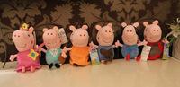 6pcs/lot hot sale Daddy Mummy Pig Peppa George Pig family Plush Toy Set Movie TV Stuffed Animals Dolls Kids size 15cm