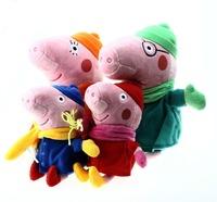 4pcs/lot Peppa Pig Family Winter Pepa Pig Plush Toys Stuffed Animals & Plush Children Leaning & Education Toy Boneca Brinquedos
