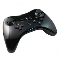 2014 New Black Classic Dual Analog Wireless Bluetooth Remote U Pro Game Controller Gamepad for Nintendo Wii U