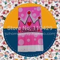 little princess kid  girl baby happy birthday party decoration kits supplies favors girl princess table cloth 3pcs/lot