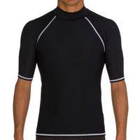 New Mens Womens Clothing Swimwears Spandex Solid Slim Men Women Swimming Suits Chinlon Rash Guards Size S - 2XL Color Black