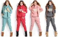 New 2014 sport sets women hooded sport suit high quality women's sweatshirt 3pcs/set plus size XXXL