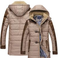 down & parkas 2014 fashion warm hooded slim winter jacket men,middle long high quality outdoor men winter jacket