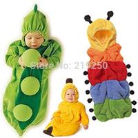 Baby sleeping bag autumn and winter thickening baby cartoon anti tipi newborn ploughboys caterpillar with sleeves pea sleeping