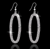 New Design Vintage Drop Earrings Gold Plated SWA Element Austrian Crystal Earrings For women  wedding Jewelry  MD1382