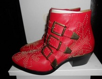 Wholesale and retail leather buckle boots nailed to send high-quality  free shipping