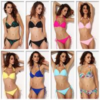 Women's Bikini Set Halter Top With Push Up Low Waist Metal Button 58olors S/M/L/XL Size Swimsuit High quality Retails&Wholesale