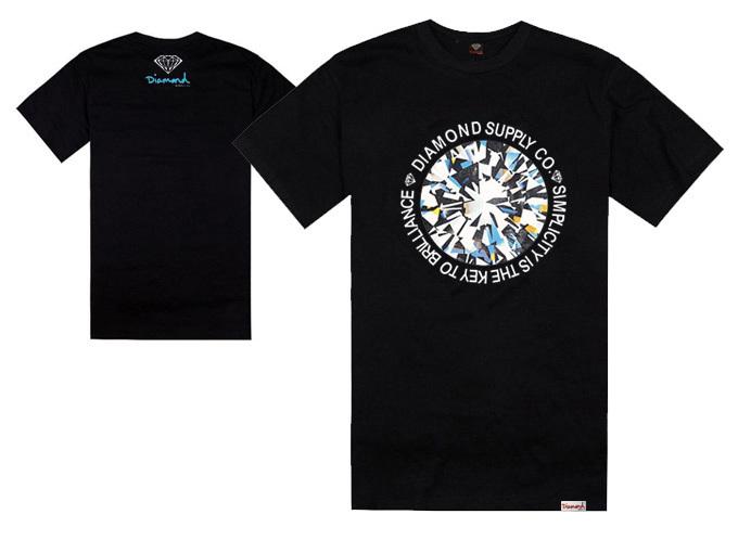 moda fornecer co diamante marca t- camisas venda quente curto homens- manga esporte camiseta camisa de algodão roupas de hip hop(China (Mainland))
