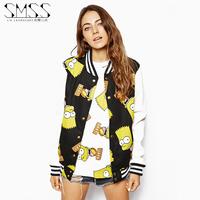 SMSS fashion autumn outerwear baseball clothing baseball uniform baseball shirt female sweatshirt