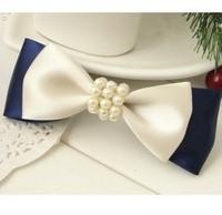 212 pearl bow hairpin headband navy style british style hair accessory