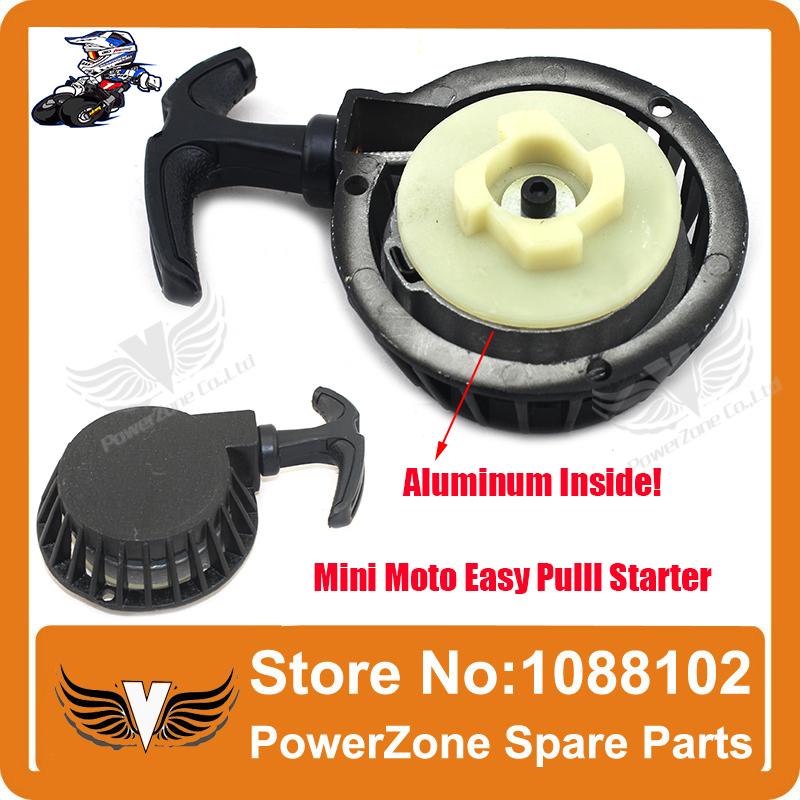 Aluminum Alloy Pull starter Easy to Pull Fit 47cc 49cc 2 Stoke Mini Dirt Pocket Pit Bike Moto ATV Quad Free Shipping(China (Mainland))