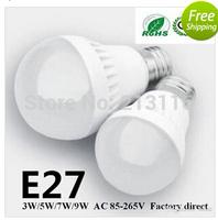 10X 3W/5W/7W/9W  LED bulbsAC85-265V 300LM E27 led lamp USA Seller 3 years warranty 5730 5630 led lights led Globe lights