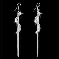 New Design Vintage Tassel Dangle Earrings Gold Plated SWA Element Austrian Crystal Earrings For women  wedding Jewelry  MD1381