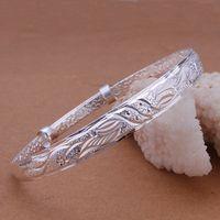 Free Shipping Fashion 925 Silver 3mm Single Circle Bangle Bracelet for Women Jewelry Factory Price SMTB135