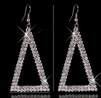 New Design wild Water Drop Earrings AAA stage drill Austrian Crystal Triangle Earrings For women wedding Jewelry  MD1386