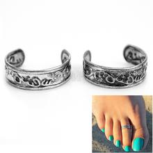 2Pcs Adjustable Toe Ring Girls Women Vogue Summer Beach Foot Jewelry Hot Sale