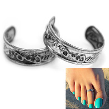 2Pcs Adjustable Toe Ring Girls Women Vogue Summer Beach Foot Jewelry Hot Sale