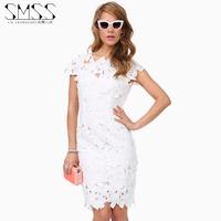 SMSS fashion cutout print racerback hydrotropic zipper slim waist slim hip step one-piece dress