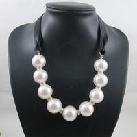 454 necklace female big pearl short design necklace fashion all-match fashion female formal dress