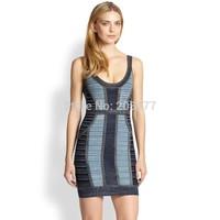 2014 New summer Elegant Ladies Bodycon Dresses Print Pencil Sleeveless Bandage Evning Women Dress S,M,L,XL
