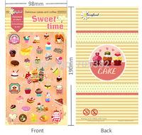 Kawaii style dessert series paper stickers, decoration sticker, school supply, good quality(tt-1361)