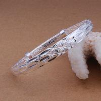 B190 925 sterling silver bangle bracelet, 925 silver fashion jewelry Bangle /apyajhfa axxajpea