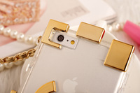 retail  New arrival Luxury brand Legos Chain Handbag multicolor crystal transparent Case cover for iphone 5 5S 6 plus OPP bag