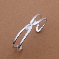 Free Shipping Fashion 925 Silver Fashion Bangle Bracelet for Women Jewelry Factory Price SMTB182