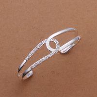B180 925 sterling silver bangle bracelet, 925 silver fashion jewelry Bangle /apoajgva axnajoua