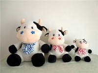 Free shipping 40cm dairy cow plush toy  milch cow soft stuffed toy dairy cattle soft stuffed toy Christmas gift