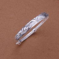 Free Shipping Fashion 925 Silver Fashion Bangle Bracelet for Women Jewelry Factory Price SMTB187
