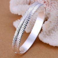 B173 Hot Sell! Wholesale 925 silver bangle bracelet, 925 silver fashion jewelry, Setaria closed bangle