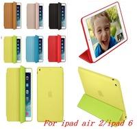 New Original Luxury Ultra Slim Smart Flip PU Leather Case For Apple iPad Air 2 iPad 6 Wake Up/Sleep Function With Retail Box