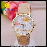 100/lot made in China stylish pretty hot sale attractive women Geneva watch(WJ-2854)