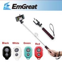 Bluetooth Remote Control Self-Timer Shutter + Mini Monopod Stick Selfie Rotary Extendable Handheld Camera Phone Tripod Pole