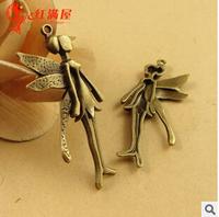 A3360  30pcs/lot size 23*12mm colour bronze angel Antique diy pendant Jewelry findings  nickel free zakka