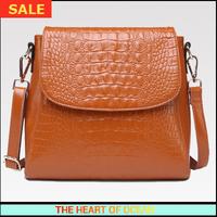 Fashion Genuine Leather Women Messenger Bag Cow Leather Alligator Pattern Zipper Female Single Shoulder Bag Women Bag B119