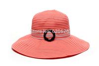 bucket hats,polyester fibre,orange,one size Wedding Church Party summer beach sun hats Kentucky Derby  hats