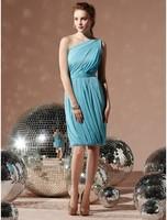 2014 Hot Sale A-Line Chiffon One Shoulder Short Special Occasion Dress