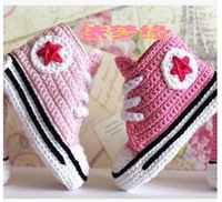Handmade yarn knitted baby shoes kilen baby soft sole shoes toddler shoes socks 20130612 - 08