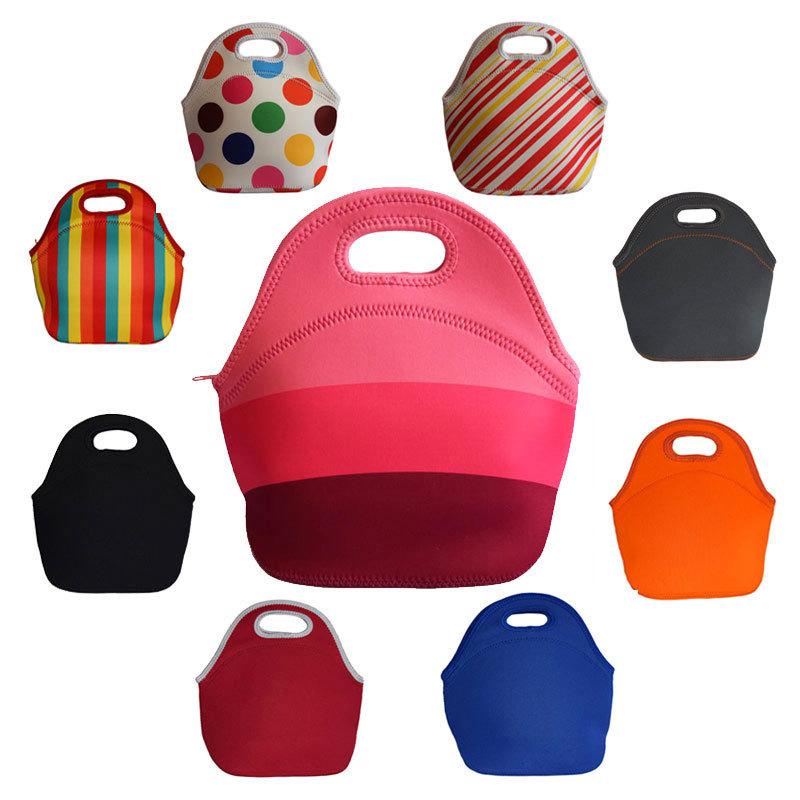 thermo isolamento térmico lancheira lancheira neoprene para as mulheres e as crianças lunchbags sacola com zíper caixa do refrigerador do almoço saco de isolamento(China (Mainland))