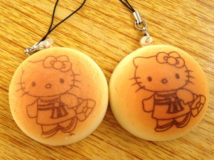 new hello kitty bread bun (S) squishy cell phone charm / free shipping(China (Mainland))
