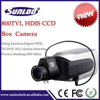 Cheap price 800TVL Box camera HDIS CCD CCTV box camera for security surveillance system