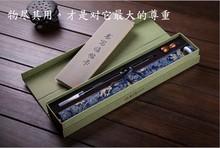 Suprimentos chineses da caligrafia papel de arroz imitação não tinta escrita água pano de rolagem com caixa de presente(China (Mainland))